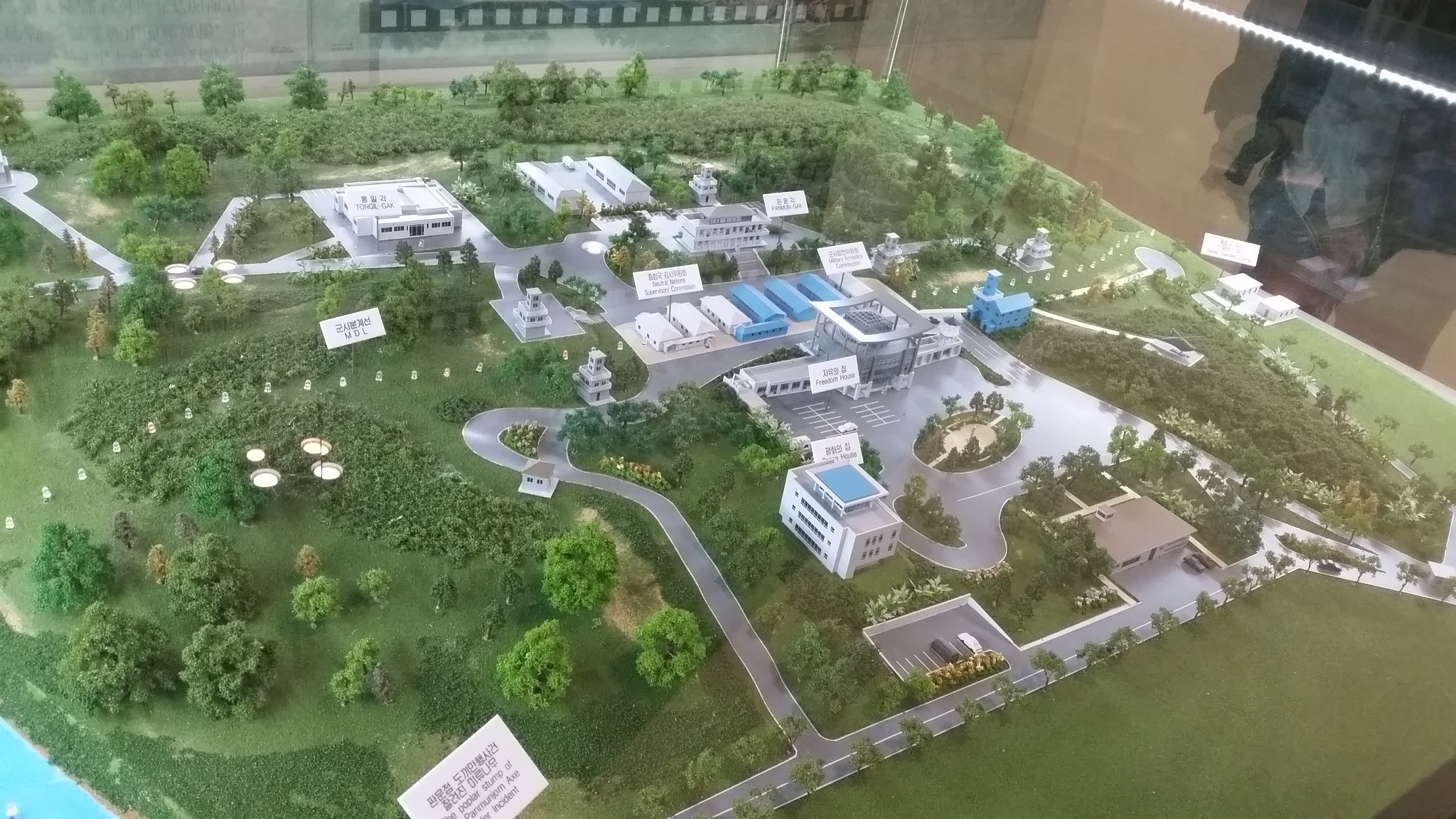 Model of Panmunjom at the museum near the third tunnel