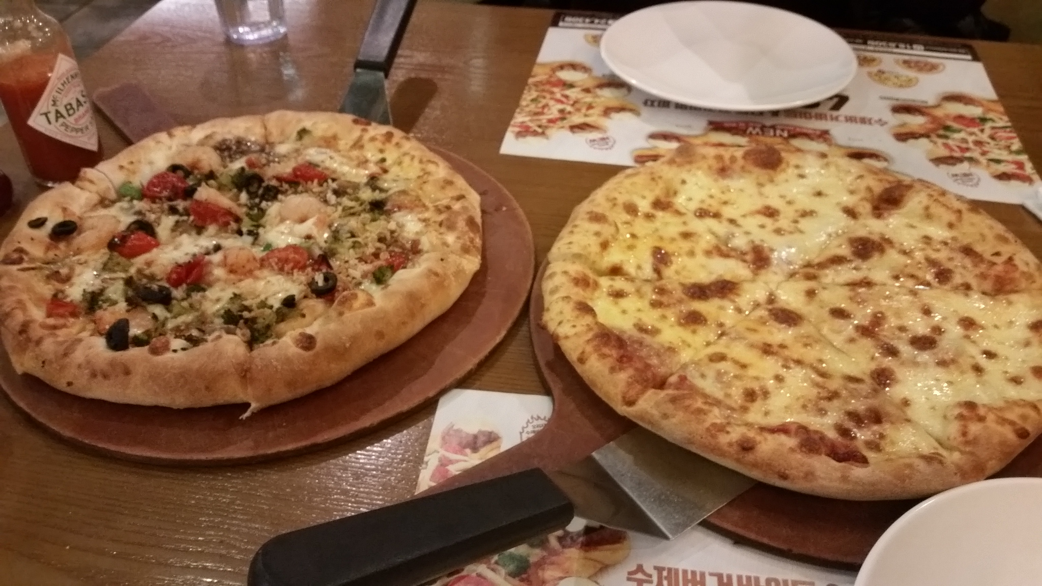 Pizzas from Pizza Hut in Seoul
